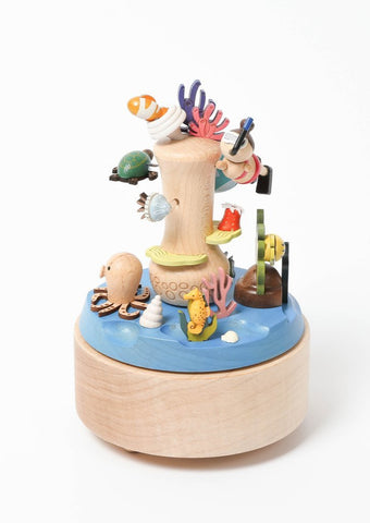 Coral Reef Wooden Music Box