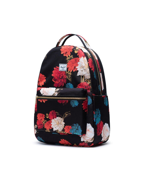 Nova Sprout Diaper Bag - Vintage Floral Black