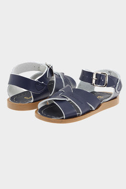 The Original Leather Sandal- Navy