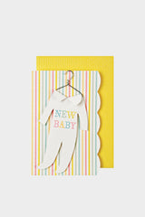 meri meri gift enclosure card new baby onesie