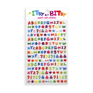 Itsy Bitsy Stickers Pattern Alphabet Sheet