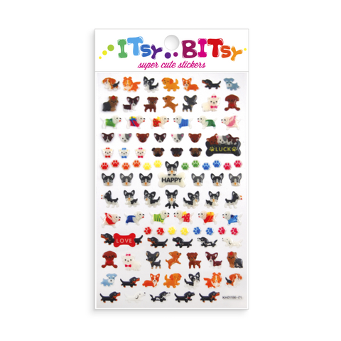 Itsy Bitsy Stickers Pooches Sheet