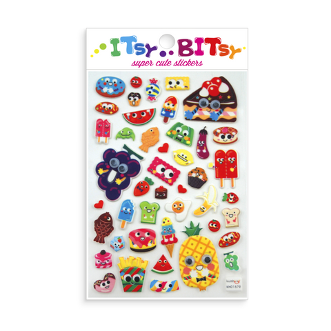 Itsy Bitsy Stickers Googly Eyed Food Sheet