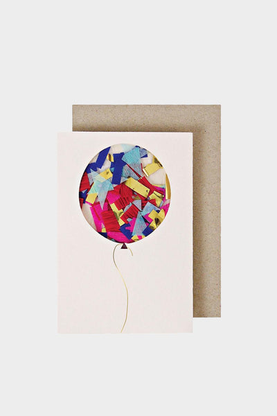 meri meri gift enclosure card balloon confetti