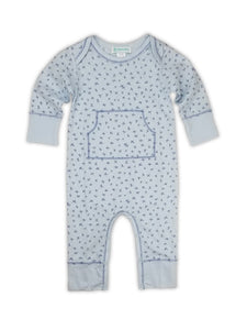 Four Points on Blue Kangaroo Romper