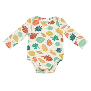 Fall Leaves Lap Shoulder Onesie