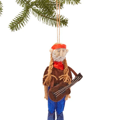 Willie Nelson Wool Felt Ornament