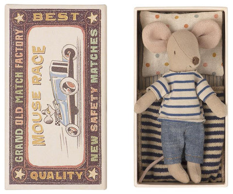 Big Brother Mouse in Blue Stripe Shirt in Box