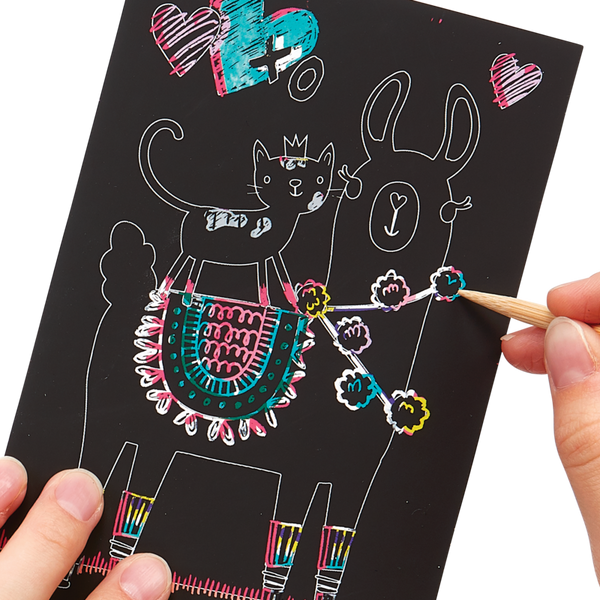 Mini Scratch & Scribble Art Kit: Funtastic Friends Set