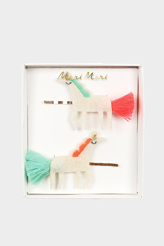 Unicorn Tassel Hair Slides