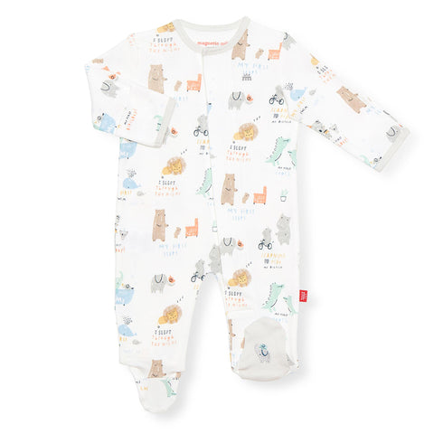 Year of Firsts Organic Cotton Footed Romper