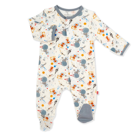 Astro Pups Modal Footed Romper