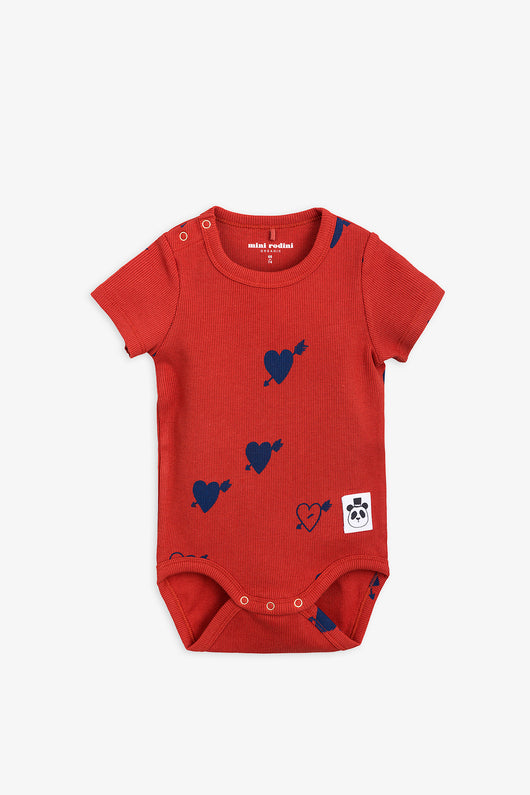 Red Heart Rib S/S Body Onesie