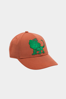 Brown Draco Embroidery Cap