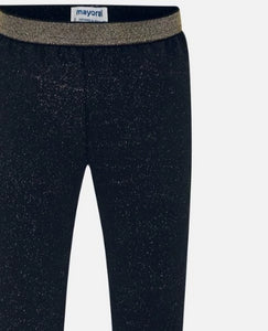 Navy Gold Sparkle Leggings