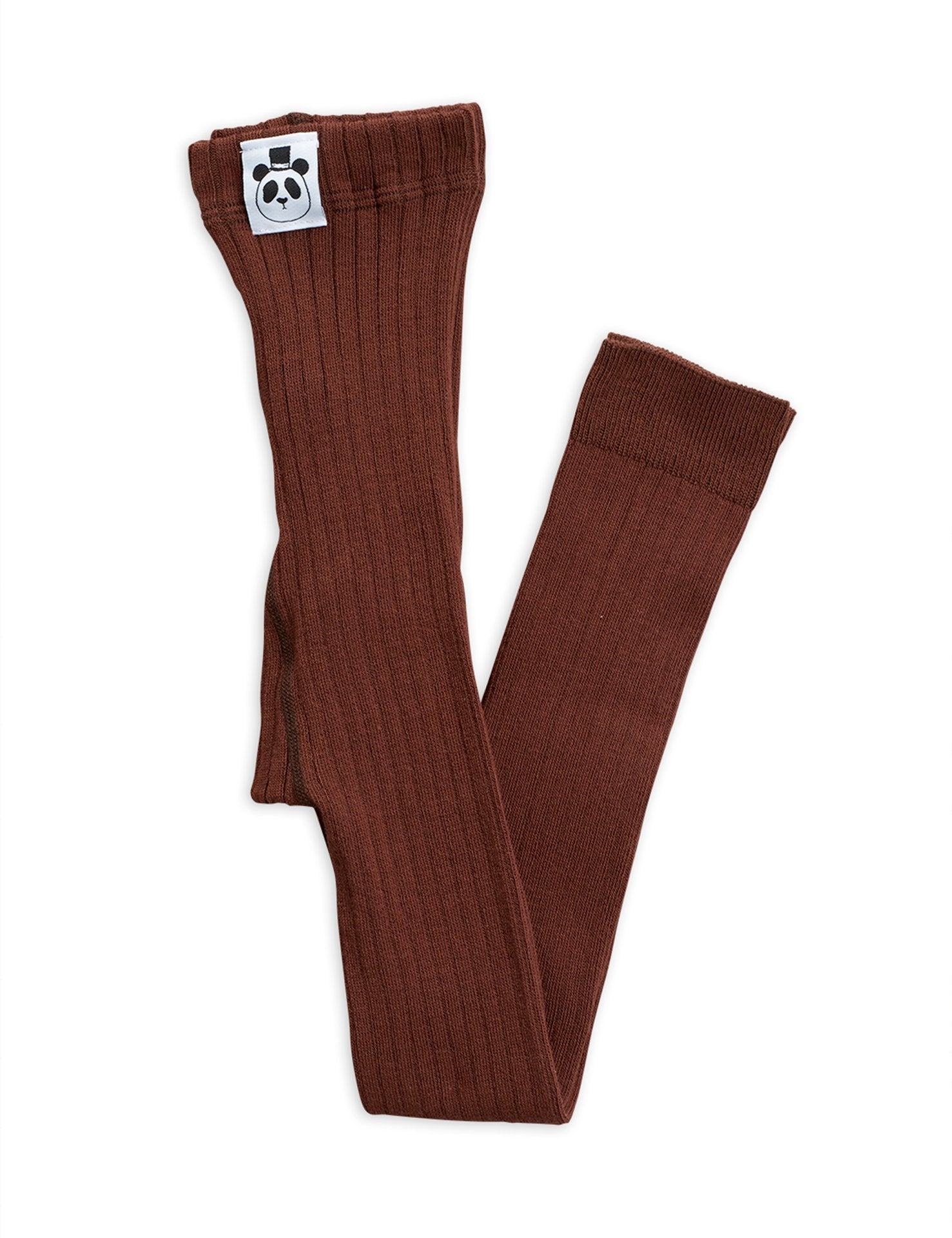 Brown Ribbed Leggings