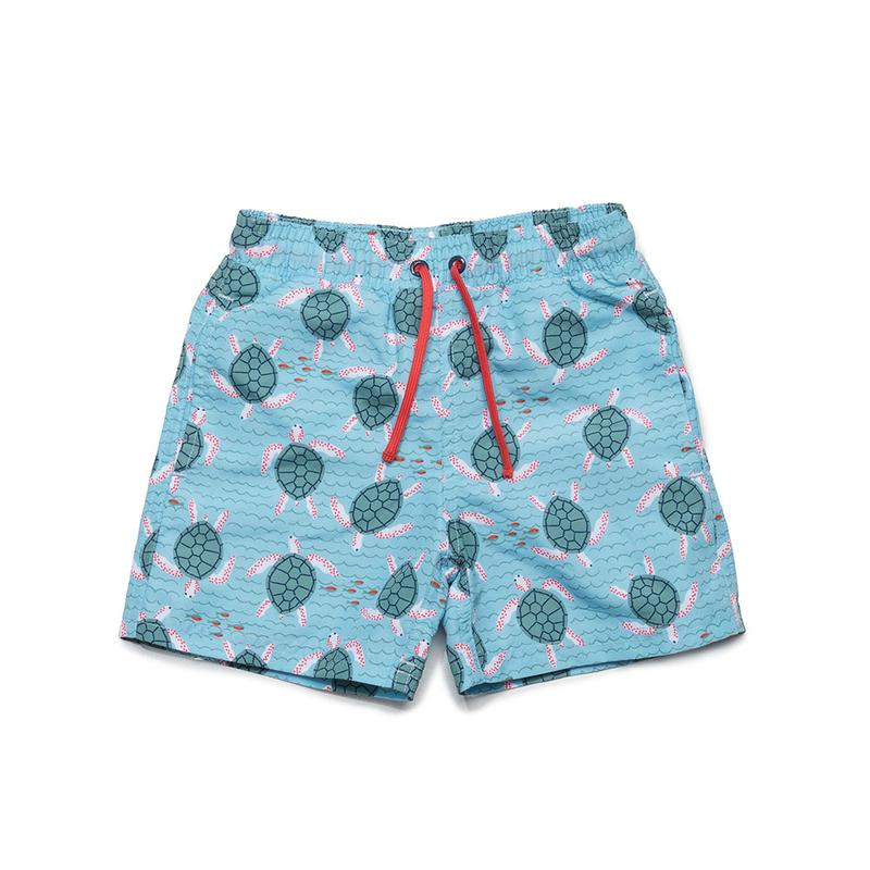 Tristan Kid Swim Trunks Turtle