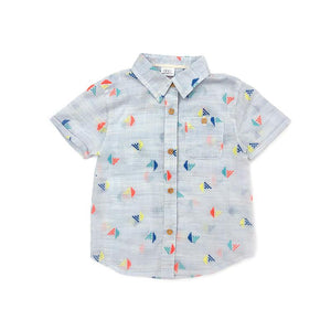 Adrian Shirt Embroidered Chambray
