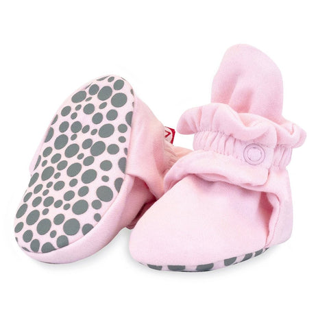 Organic Cotton Booties Pink
