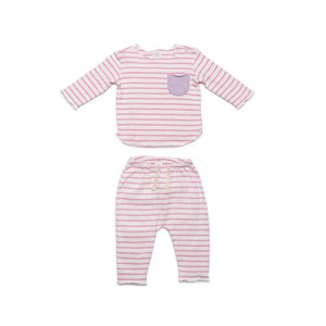 Bobbi Set Pink Stripe