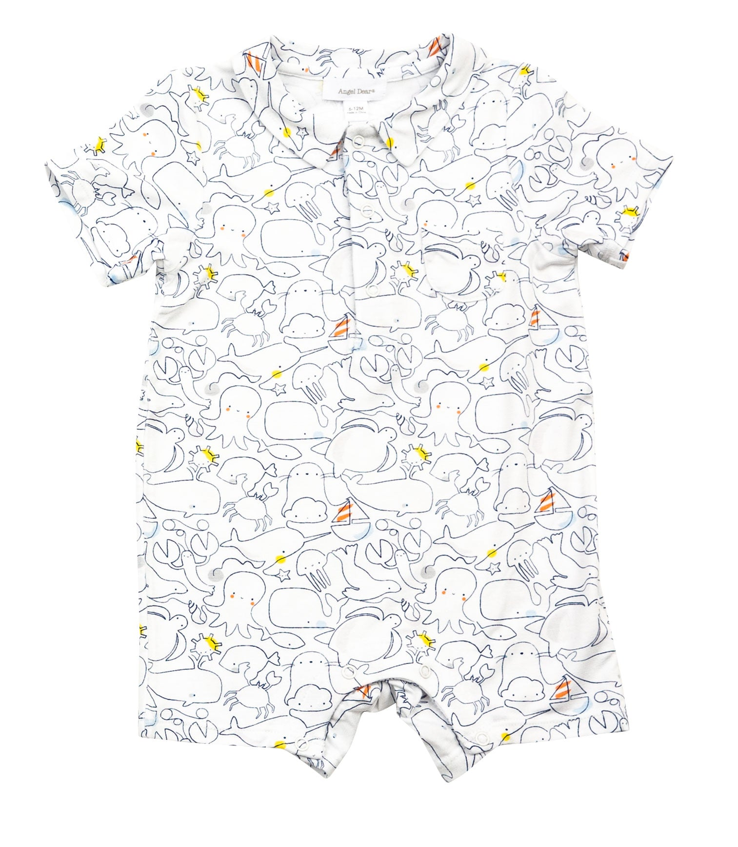 Sea Life Polo Romper