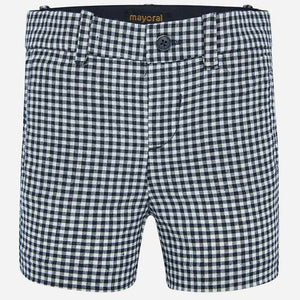 B&W Linen Check Shorts