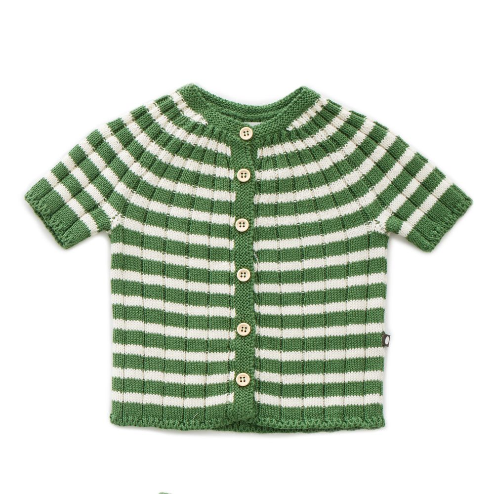 Green & White Everyday Cardi