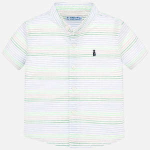 Neon Stripe S/S Button Up
