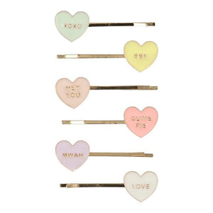 Love Hearts Enamel Hair Slides