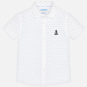 S/S Dot Button Up