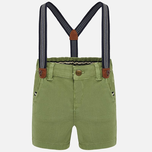 Army Green Suspender Shorts