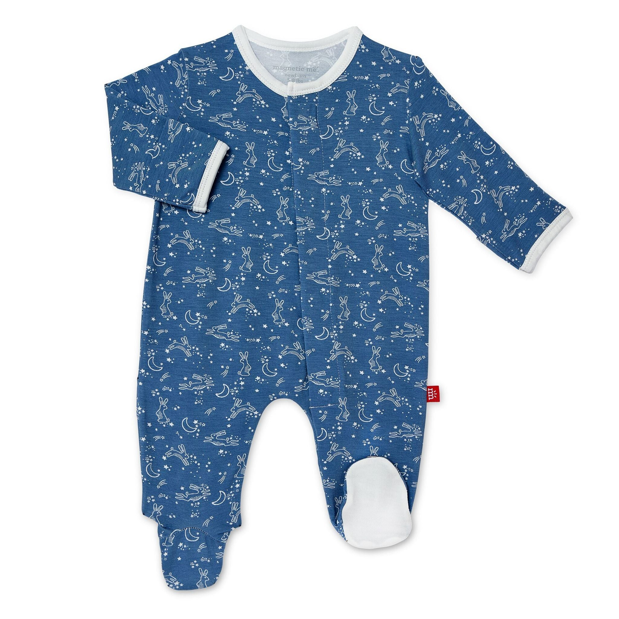 Blue Sky Bunny Footed Romper
