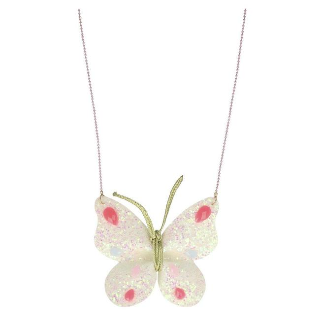 Glitter Butterfly Necklace