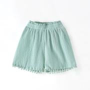 Bella Pom Fringe Shorts Kid