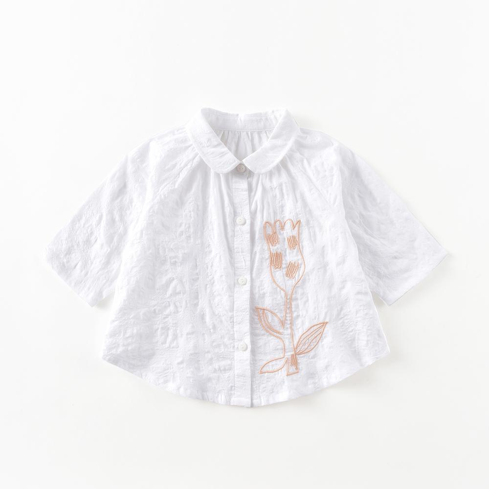 Yvette Flower Embroidered Blouse