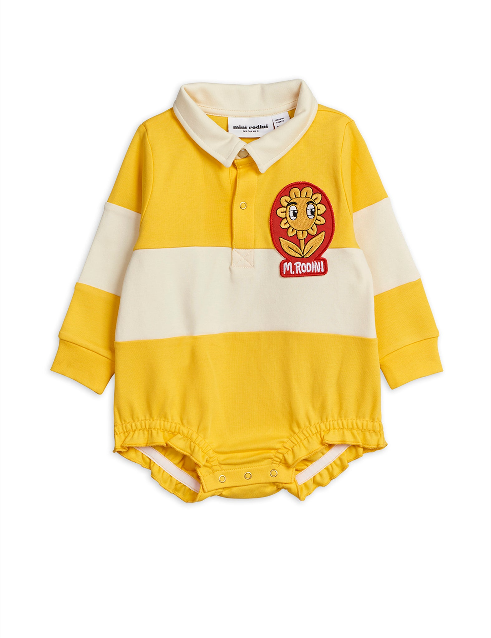 Yellow Stripe L/S Rugby Romper