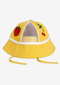 Yellow Strawberry Mesh Sun Hat