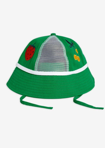 Green Strawberry Mesh Sun Hat