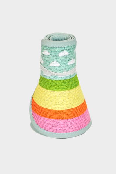 Striped Cloud Roll Up Hat