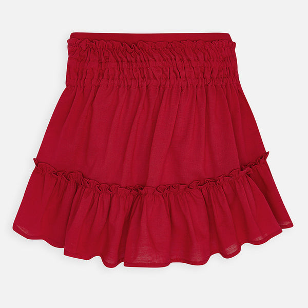 Red Ruffled Skirt