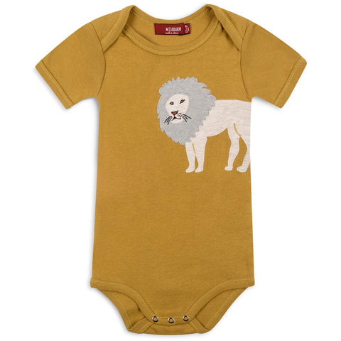 Organic Applique One Piece Lion