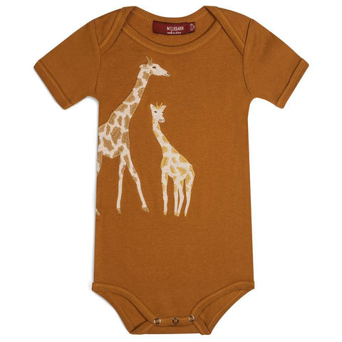 Organic Applique One Piece Giraffe