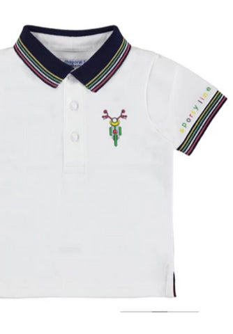 Baby Sporty Striped Collar Polo