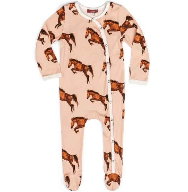 Footed Romper Horse