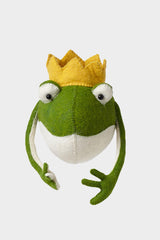 Frog Prince Head Wool Mount
