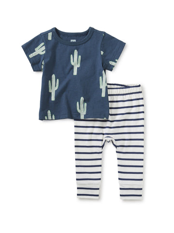 Cacti Stripe Two Piece Baby Set