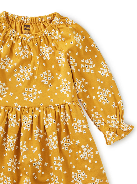 Golden Peasant Dress Baby