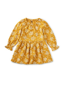 Golden Peasant Dress Kid