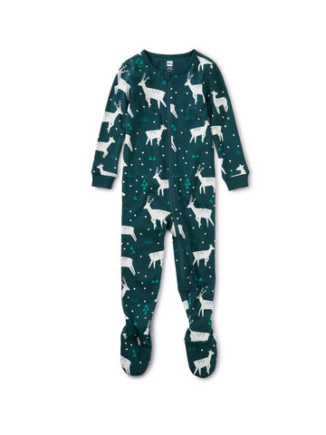 Night Deer Footed Pajamas