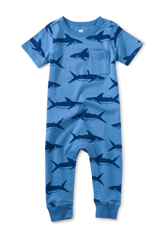 Bull Shark Pop Pocket RomperBull Shark Pop Pocket Romper